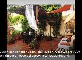 Hotel Photo: MADRID.Bohemian room with Garden.Bares&Tapas.A/C