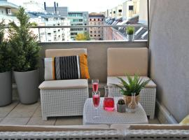 Hotel photo: Penthouse in city center with big terrace and private garage.
