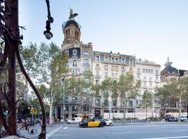 Modernismo Paseo de Gracia Barcelona Spain