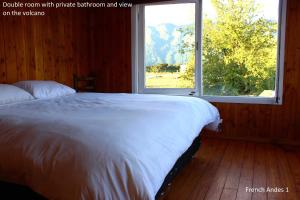 Double Room with Private Bathroom and Volcano View