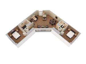 Two-Bedroom, Two Bathroom Suite with 2 King Beds