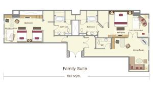 Two-Bedroom Family Suite with Free Round-trip Airport Transfer