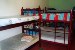 Bed in 9-Bed Dormitory Room with Internal Shared Bathroom