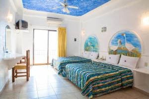 Double Room with 2 Double Beds with Sea  View- Beach Club
