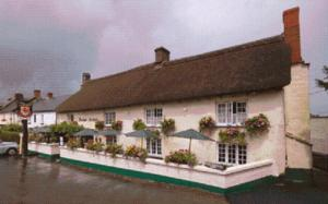 The Drewe Arms in Drewsteignton, Devon, England