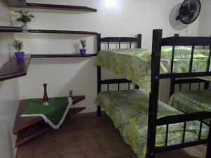 Bed in 8-Bed Mixed Dormitory Room with Fan