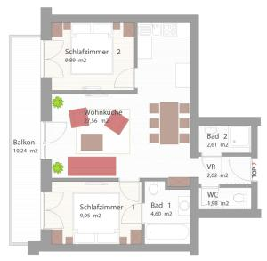 Appartementhaus Kristall at SchattbergXpress, Апартаменты  Залбах - big - 11