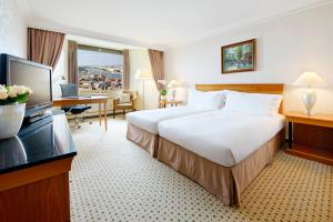 Twin Deluxe Room with Danube View and Executive Lounge Access