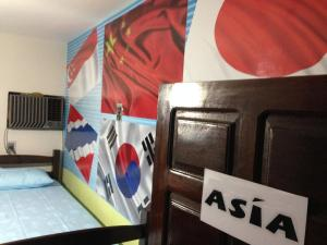 Bed in 4-Bed Female Dormitory Room with Air Conditioning