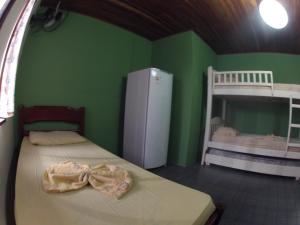 Bed in 5-Bed Mixed Dormitory Room with Shared Bathroom