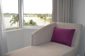 Luxury Double Room with Two Double Beds and Lagoon View