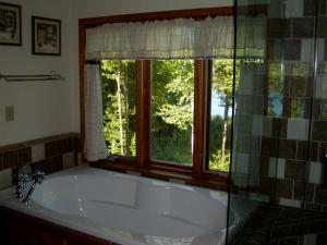 Deluxe Queen Room with Lake View, Balcony, Fireplace and Private Bath