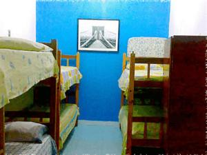 Bed in 6-Bed Female Dormitory Room with Fan