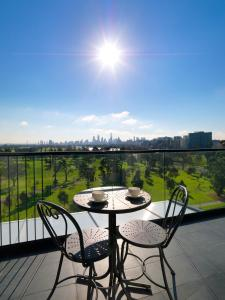 One-Bedroom Apartment with City Park View