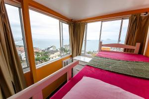 Double Room with Bunk Bed and air conditioning and View