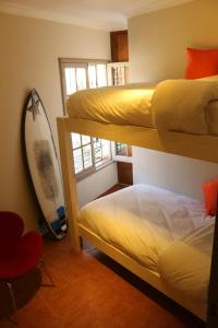 Room with Bunk Bed and Garden View