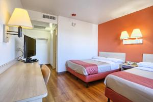 Standard Double Room with Two Double Beds with Roll-In Shower - Disability Access