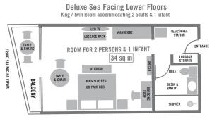 Deluxe King or Twin Room - North Sea Facing