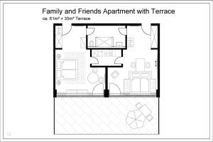 Apartment with Terrace (4 Adults)