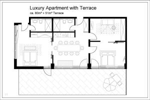 Luxury Apartment with Terrace (6 Adults)