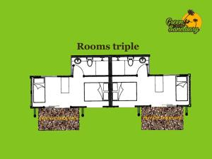 Triple Room with Garden View