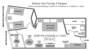 Deluxe Quadruple Room - Sea Facing