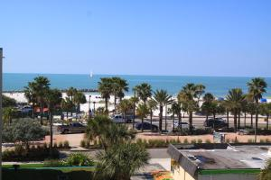 Double Room with Two Double Beds and Beach View