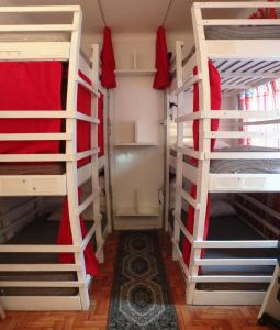 Bed in 6-Bed Male Dormitory Room with Air Conditioning