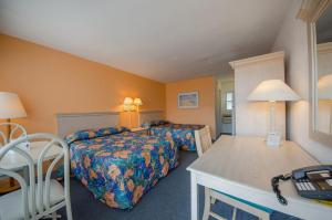 Standard Motel Room with Two Double Beds