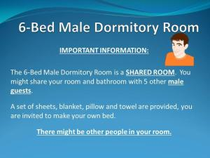 Bed in 6-Bed Male Dormitory Room