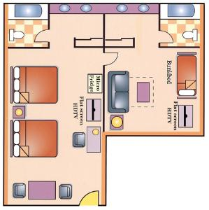 Two-Bedroom Family Suite - Non-Smoking