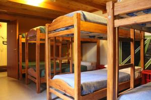 Single Bed in Dormitory Room with Shared Bathroom