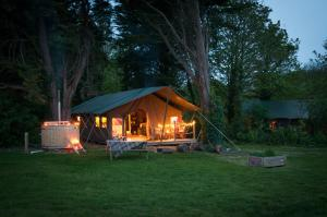 Toms Eco Lodge at Tapnell Farm in Yarmouth, Isle of Wight, England