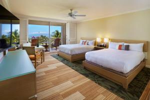 Deluxe Queen Room with Two Queen Beds and Ocean View