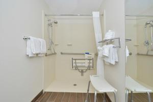 Double Room with Two Double Beds with Roll In Shower