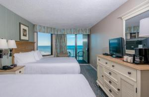 Double Room with Two Double Beds and Ocean View