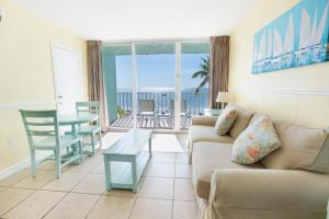 Beachfront Two Double Beds Room with Balcony