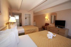 Deluxe Double Room with Two Double Beds and Balcony