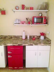 Mid Century Room with Kitchenette
