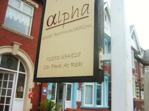 Alpha Guest Accommodation in Blackpool, Lancashire, England