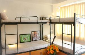 Safety & Deluxe Mixed Dorm with Balcony and City View