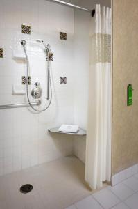 Double Room with Two Double Beds with Roll-in Shower - Hearing Accessible