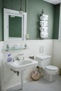 Two full sized beds, shared main hallway bathroom - bathtub and shower