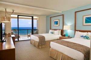 Partial Ocean View Room with Two Queen Beds