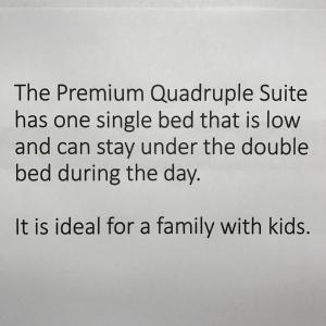 Premium Quadruple Room