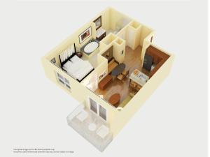 One Bedroom Double Suite with Partial Ocean View - Non-Smoking