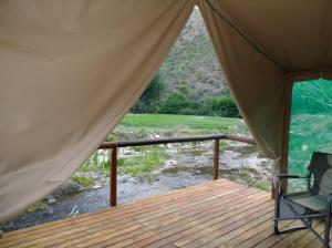 Luxury Waterfront Tent with Riverview