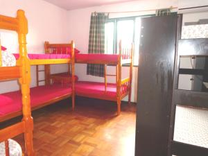Bed in 8-Bed Female Dormitory Room with Air Conditioning