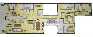 Parera 100 - Three-Bedroom Apartment
