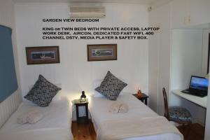 Deluxe Garden View Twin or King Bedroom with Private Access